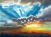 Rays Pastels - Gods Glorious Sunset by Tammy Crawford