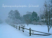 Split Rail Fence Framed Prints - Gods Love Never Fails  Framed Print by Nancy Patterson