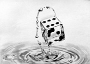Drop Drawings Originals - Gods Lucky Dice by Mukul Dhankhar