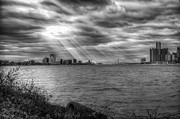 Detroit River Framed Prints - Gods Rays Framed Print by Bryan Levy