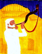 God's Shofar Blast Is Calling Israel To Keep The Sabbath Day Holy And Build The Jerusalem Temple 1 Print by Richard W Linford
