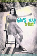 Smiling Jesus Art - Gods Way by Michelle Greene Wheeler
