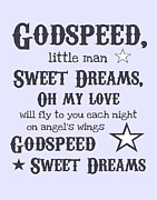 Baby Shower Posters - Godspeed Sweet Dreams Poster by Jaime Friedman