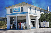 Topsail Island Posters - Godwins Market Poster by Betsy A Cutler East Coast Barrier Islands