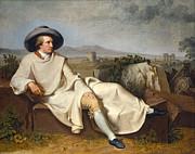 Famous Artists - Goethe in the Roman Campagna by Johann Heinrich Wilhelm Tischbein