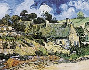 Auvers Sur Oise Prints - Gogh, Vincent Van 1853-1890. Thatched Print by Everett