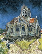 Vue Posters - Gogh, Vincent Van 1853-1890. The Church Poster by Everett