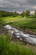 Country Roads Photos - Goin With The Flow by Bill  Wakeley