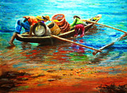 Unity Pastels Framed Prints - Going Fishing Framed Print by Joemarie  Chua