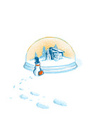 Snow Globe Posters - Going home Poster by Budi Satria Kwan