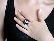 Black Ring Jewelry Originals - Going In Circles Ring by Rony Bank