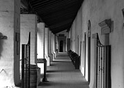 Mission San Juan Bautista Posters - Going to Church Poster by Marie Kazebee