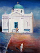 Europe Pastels - Going to Church by Shirley Leswick
