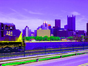 Pittsburgh Digital Art Framed Prints - Going to Pittsburgh Framed Print by Joseph Wiegand