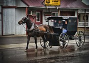 Amish Photographs Posters - Going to Town Poster by Phyllis Taylor