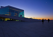 Oslo Opera House Prints - Going to Work Print by William Chizek