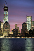 New York City Skyline Photo Framed Prints - Going Up Framed Print by JC Findley