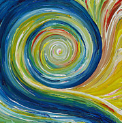 Chakra Paintings - Going with The Flow - 1 of 2 by Victoria Felstead
