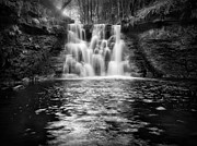 White Wall Prints - Goistock Water Falls Print by Ian Barber