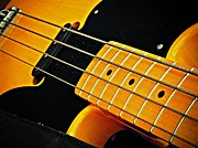 Name Prints - Gold Bass and Strings  Print by Chris Berry
