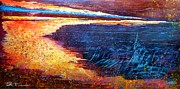 New Jersey Pastels Originals - Gold Beach by Peter R Davidson
