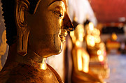 Metro Photo Metal Prints - Gold Buddha at Wat Phrathat Doi Suthep Metal Print by Metro DC Photography