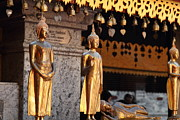 Golden Photo Prints - Gold Buddha - Wat Phrathat Doi Suthep - Chiang Mai Thailand - 01132 Print by DC Photographer