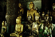 Rangoon Art - Gold Buddhas by Eva Kato