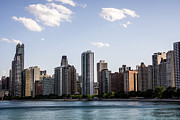 Gold Coast Posters - Gold Coast Chicago Skyline Poster by Paul Velgos