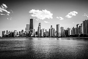 Chicago Black White Posters - Gold Coast Skyline in Chicago Black and White Picture Poster by Paul Velgos