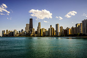 Chicago Prints - Gold Coast Skyline in Chicago Print by Paul Velgos