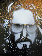 Lebowski Paintings - Gold Dude  by Christopher  Chouinard