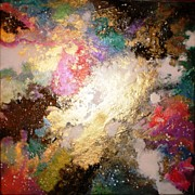 Nebula Painting Originals - Gold Dust Nebula by Barbara Hull