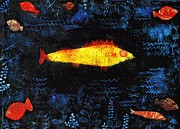 Klee Posters - Gold Fish Poster by Pg Reproductions