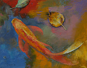 Gold Leaf Paintings - Gold Leaf by Michael Creese