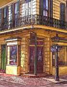 Garden District Paintings - Gold Mine Saloon  by John Boles