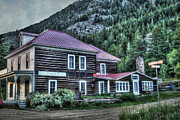 Log Cabin Photo Metal Prints - Gold Miner Hotel Metal Print by Juli Scalzi