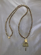 Featured Jewelry - Gold pearls and Mother of Pearl pendant necklace by Jan Durand