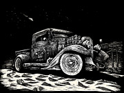 Ford Truck Drawings - Gold Rush UFO by Bomonster