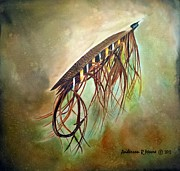 Silk Paintings - Gold Speal Spey by Anderson R Moore