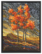 Orange Trees Tapestries - Textiles - Gold Tempest by Lorraine Roy