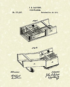 Gold Drawings - Gold-Washer 1876 Patent Art by Prior Art Design