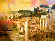 Rome Mixed Media - Golden Age by Lutz Baar
