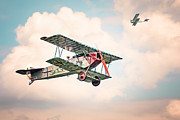 Golden Age Of Flight Framed Prints - Golden Age of Aviation - Fokker D. 7 - World War I Framed Print by Gary Heller
