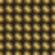 Optical Illusion Digital Art Posters - Golden Balls Poster by Sara Blum