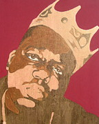 Rapper Paintings - Golden Biggie by JJ  Burner