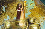 Prophet Posters - Golden Bowls of Prayer Poster by Constance Woods