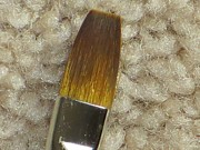 Golden Brush Print by Sonali Gangane