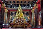 Thai Photos - Golden Buddha by Adam Romanowicz