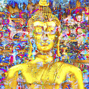 Chang Prints - Golden Buddha Print by Derek Selander
